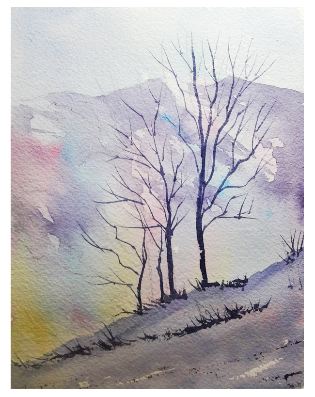 How To Paint Winter Landscapes In Watercolour Solving